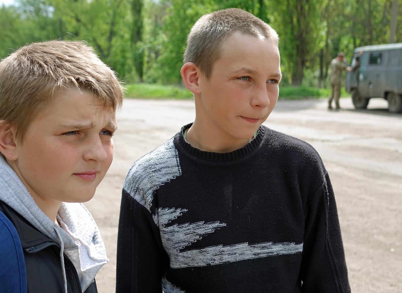 Sierioża i Wiktor, 14-latkowie z Nowosiliewki.