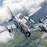 Su-22 i F-16/fot. Bartek Bera