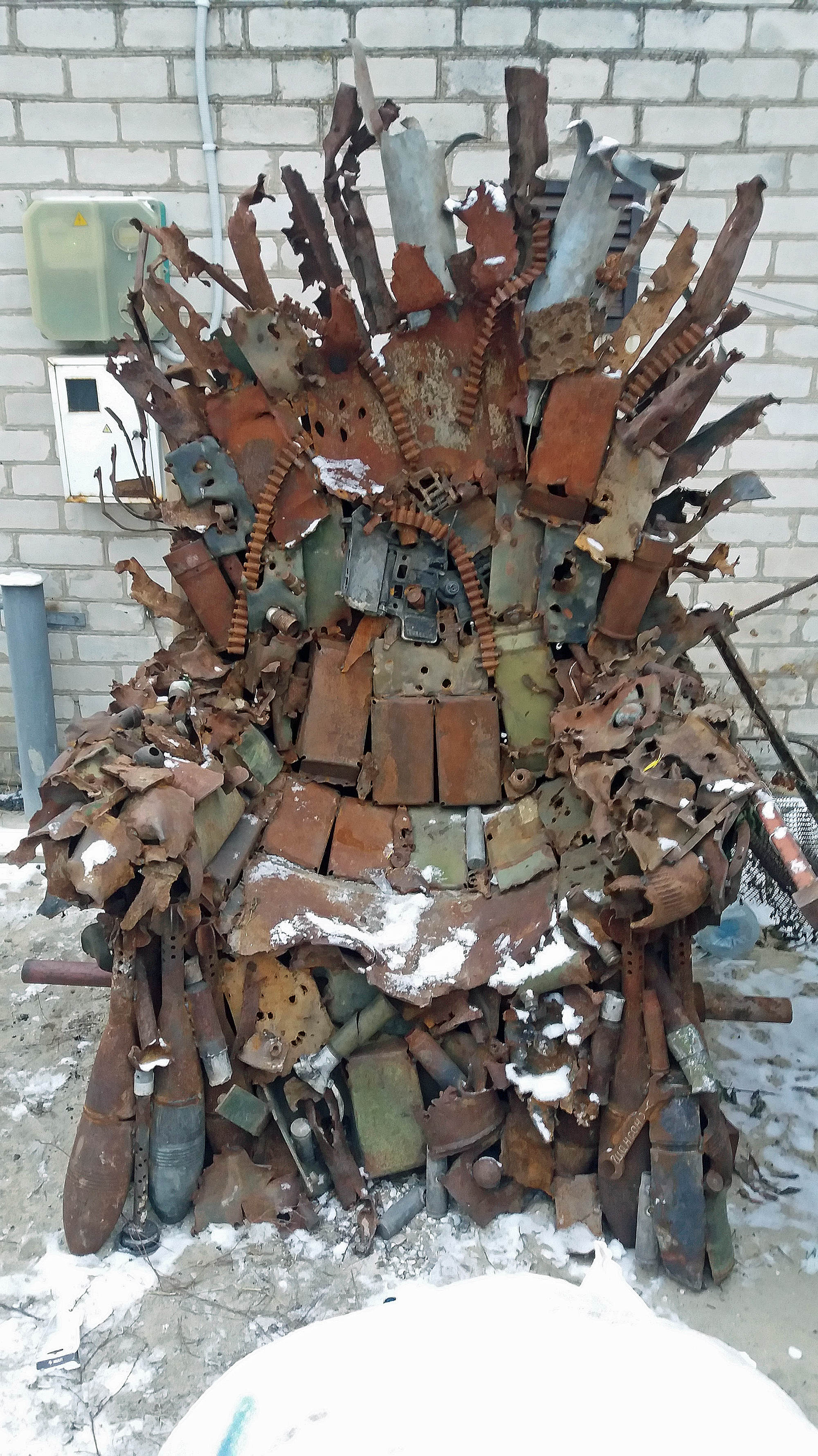 Tron znajduje się w tej chwili we wsi Balabino. 22 stycznia, w dniu jedności Ukrainy, ma trafić do jednego z muzeów w Zaporożu/fot. Marcin Ogdowski