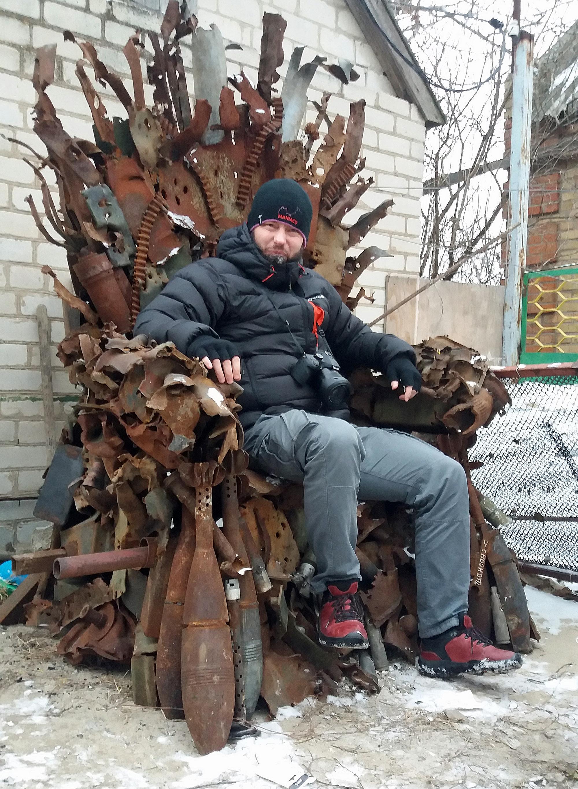 Autor blogu na ukraińskim tronie/fot. Marcin Wesołowski