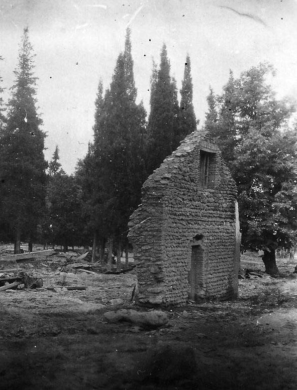 Pozostałości domu po powodzi z 1949 roku. Jedno ze zdjęć, które otrzymał Aleko Baidoszwili/fot. archiwum prywatne