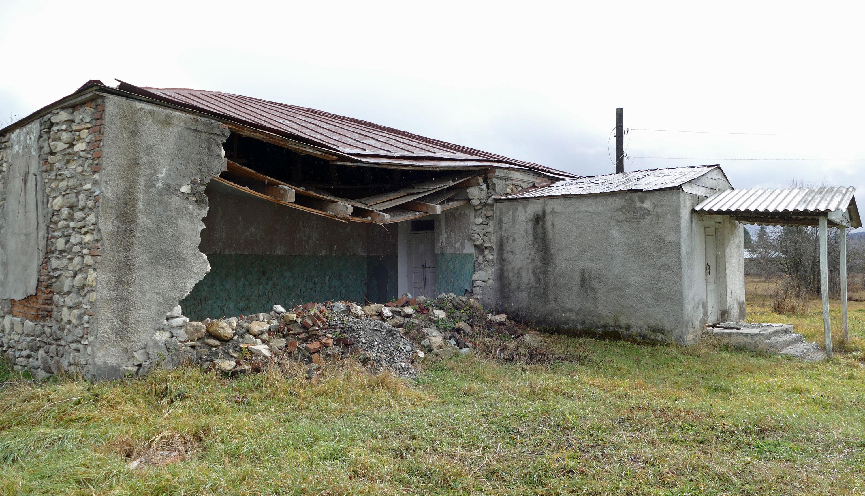 Poprzedni budynek przedszkola dawno temu się zawalił...