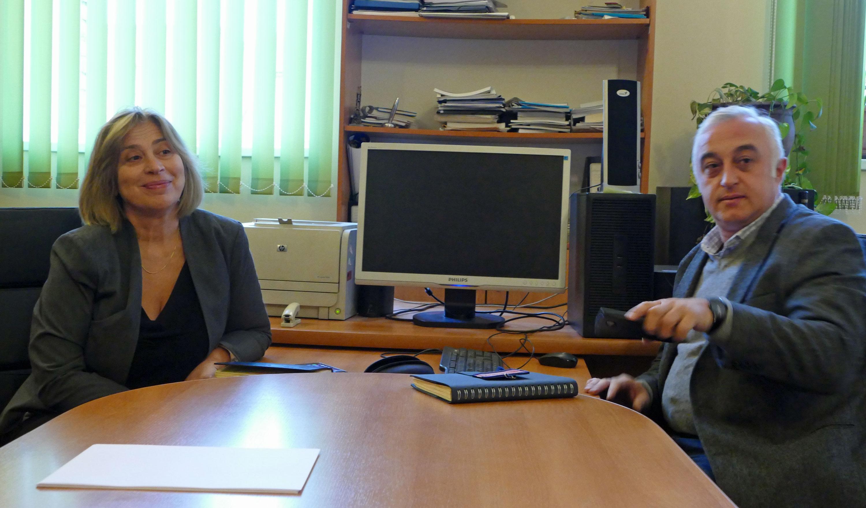 Nino Beselia i Aleksander Kalandadze; oboje zadeklarowali pomoc dla przedszkola w Zaridzeebi.