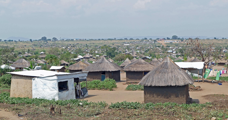 Obóz Bidi Bidi, widok z terenu ośrodka zdrowia w Koro/fot. Marcin Ogdowski